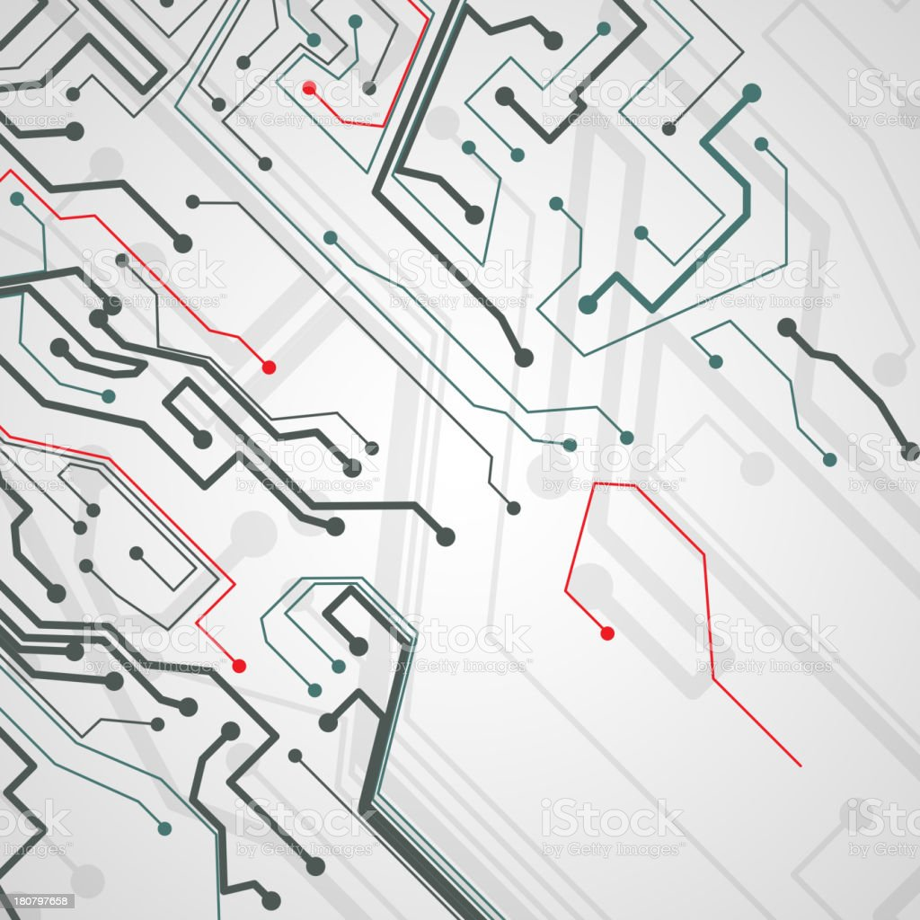 Circuit board vector background royalty-free stock vector art