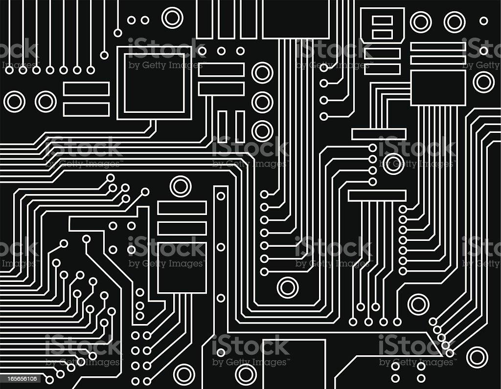 circuit board vector art illustration