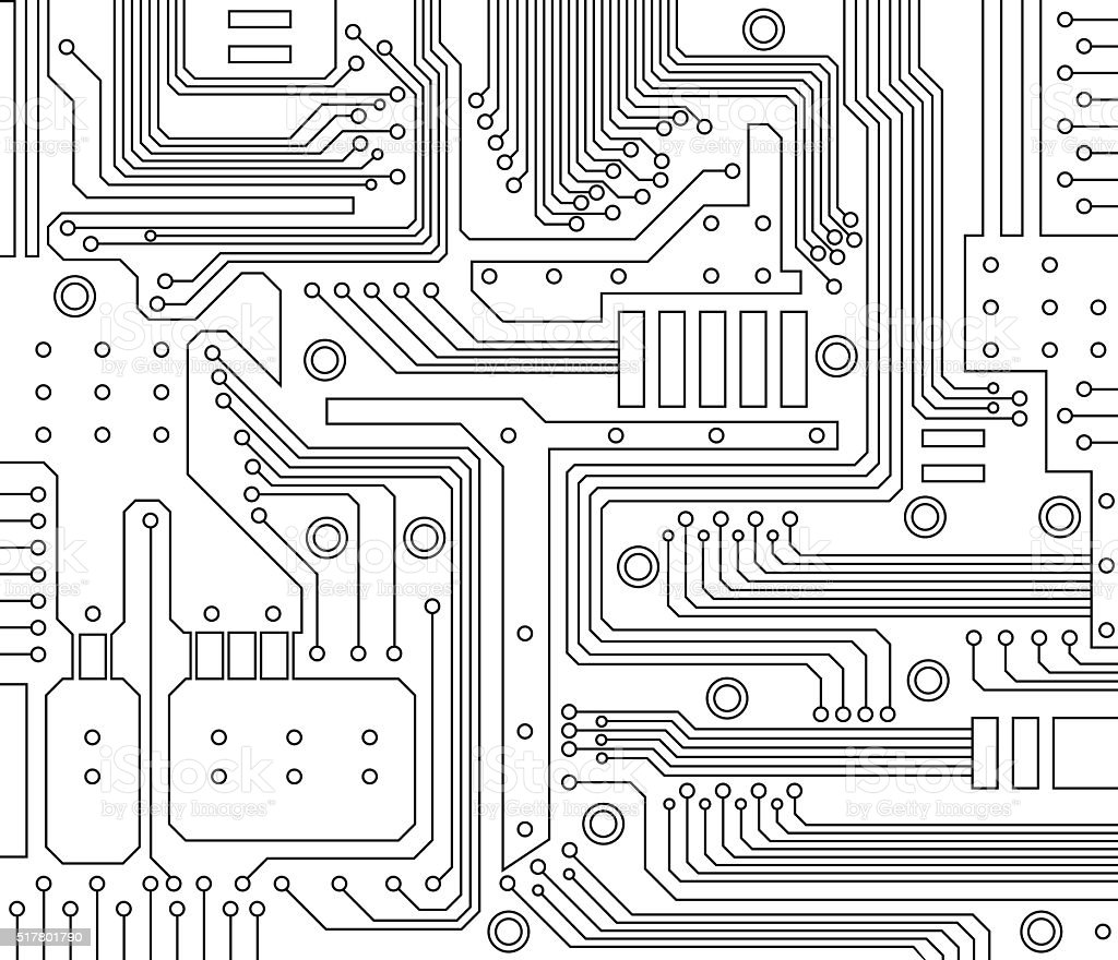 circuit board vector art illustration