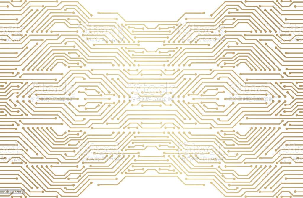 Circuit vector art illustration
