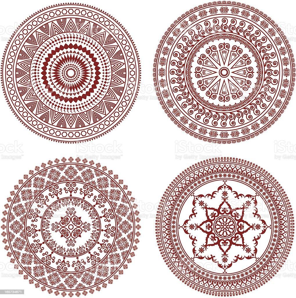 Circular background vector art illustration