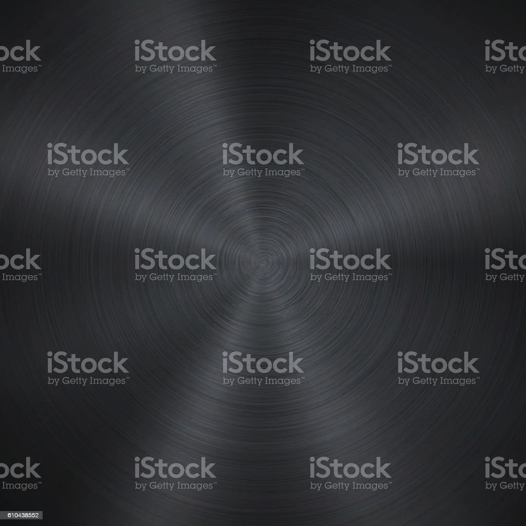 Circular Brushed Metal Texture vector art illustration