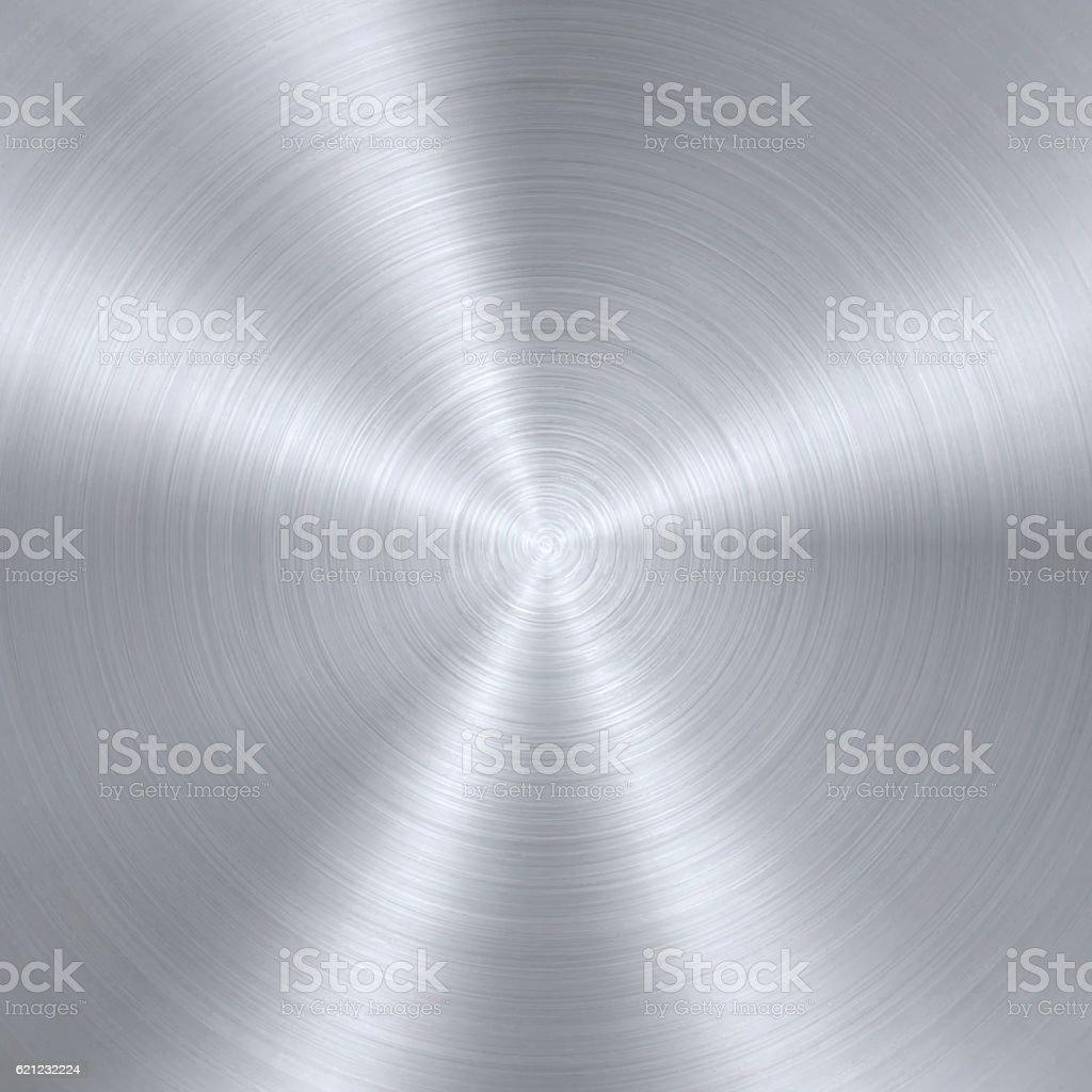 Circular Brushed Metal Texture vector art illustration