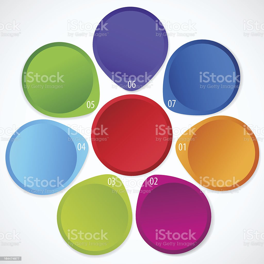 Circular Colorful arrow (circle). Multi colored vector business banners. Infographic royalty-free stock vector art