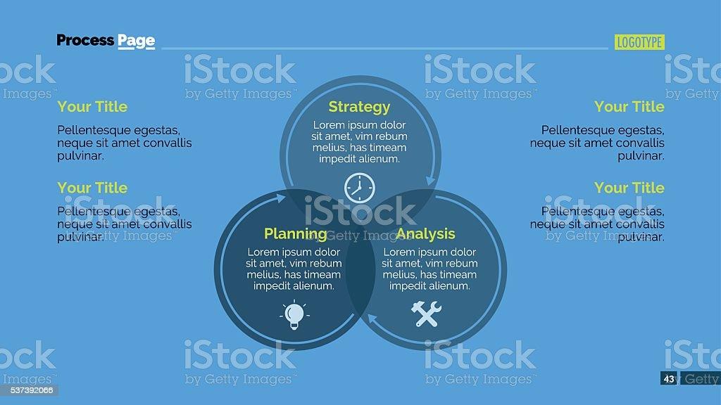 Circular Diagram Slide Template vector art illustration