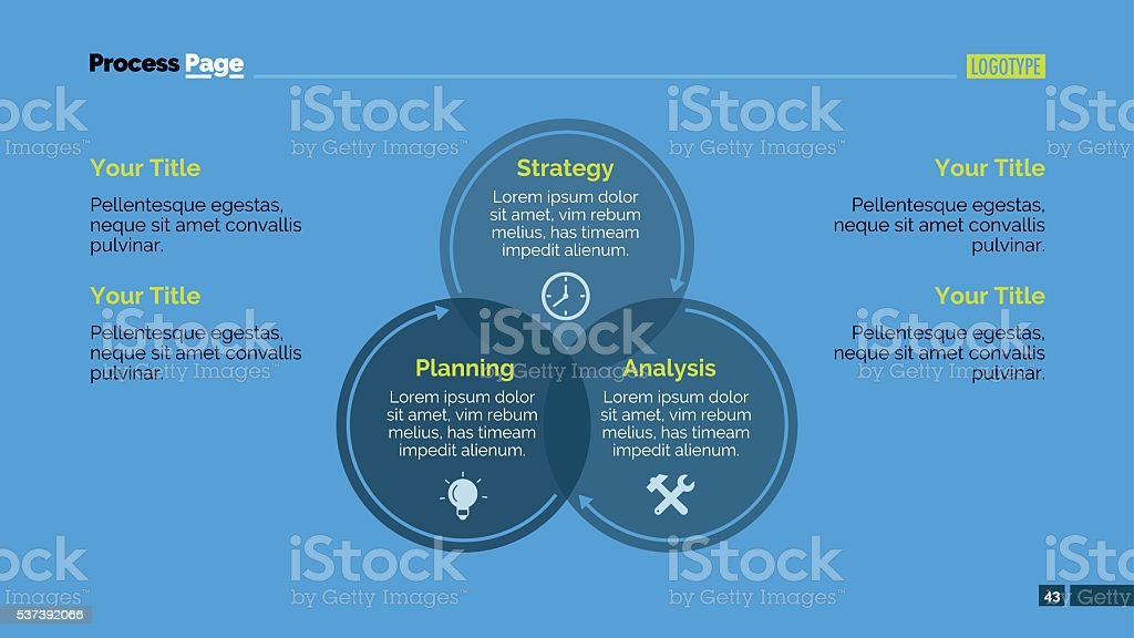 Circular Diagram Slide Template vector art illustration