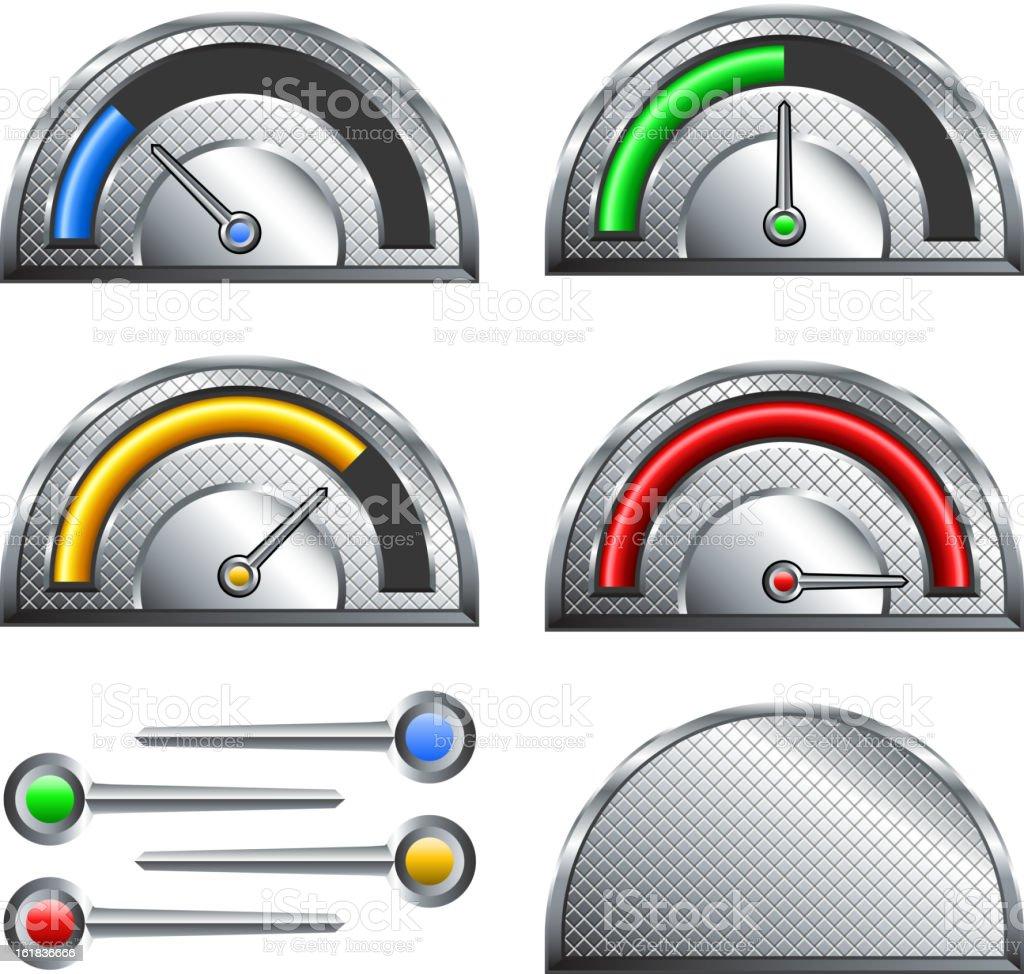 Circular Fundraiser Goal meter speedometer on white royalty-free stock vector art