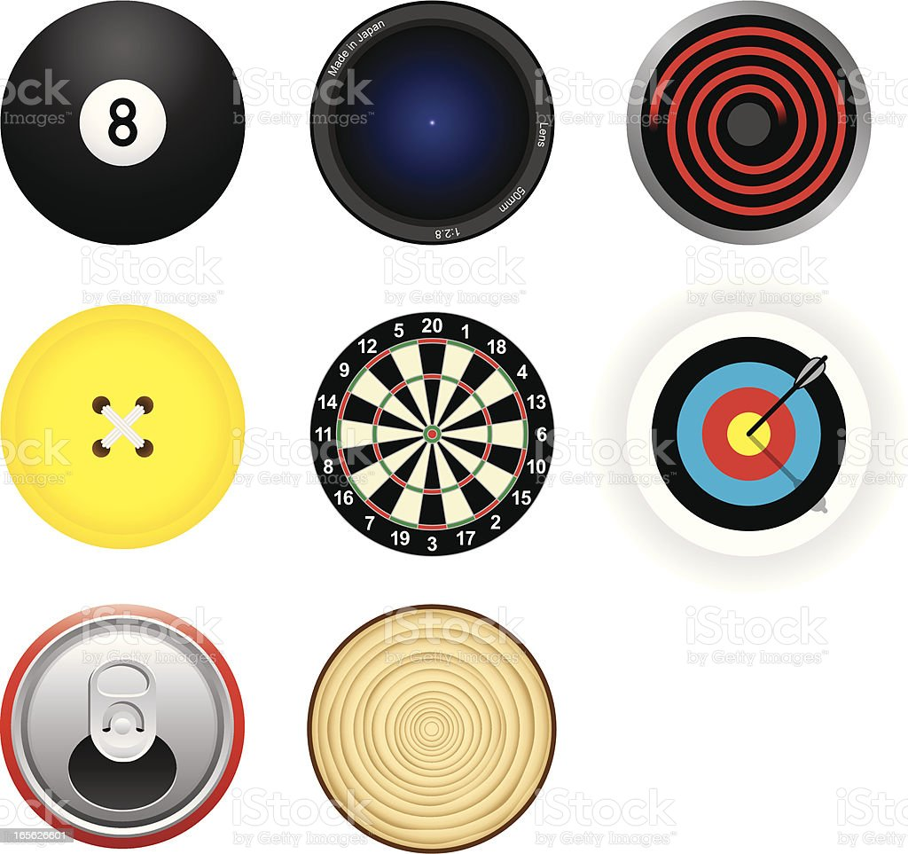 Circular Icons vector art illustration