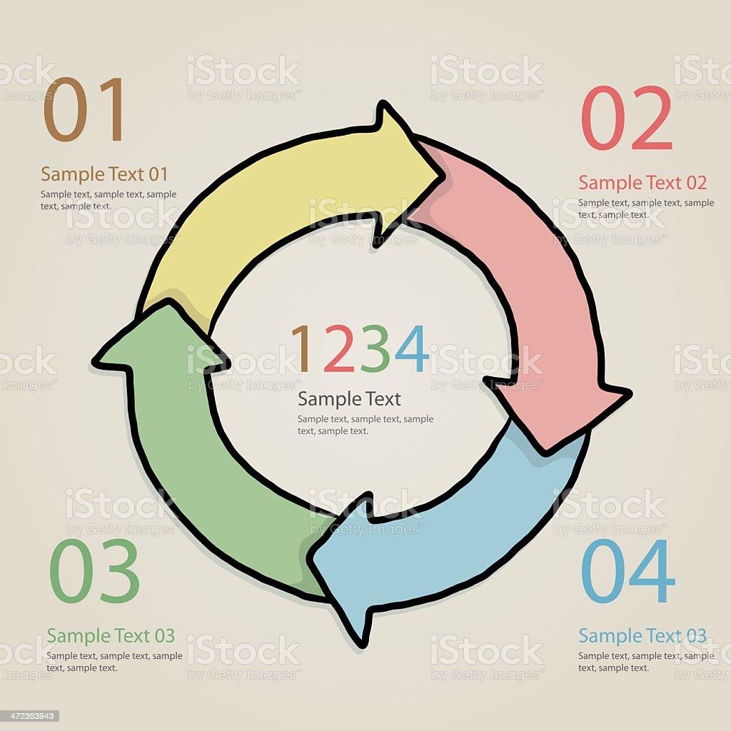 circular infographic element royalty-free stock vector art