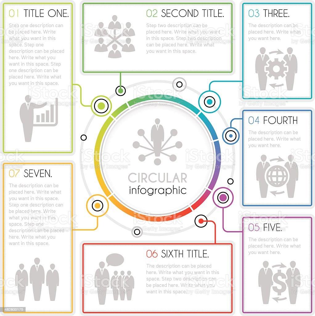 Circular infographic vector art illustration