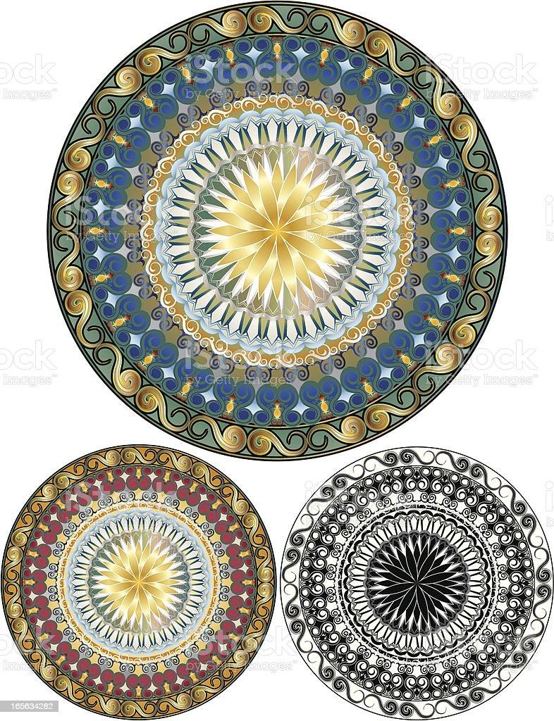 Circular raffinierten Design-Elemente-Set Lizenzfreies vektor illustration