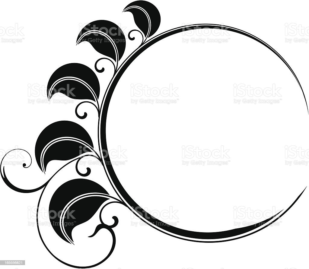 Circular leaves frame royalty-free stock vector art