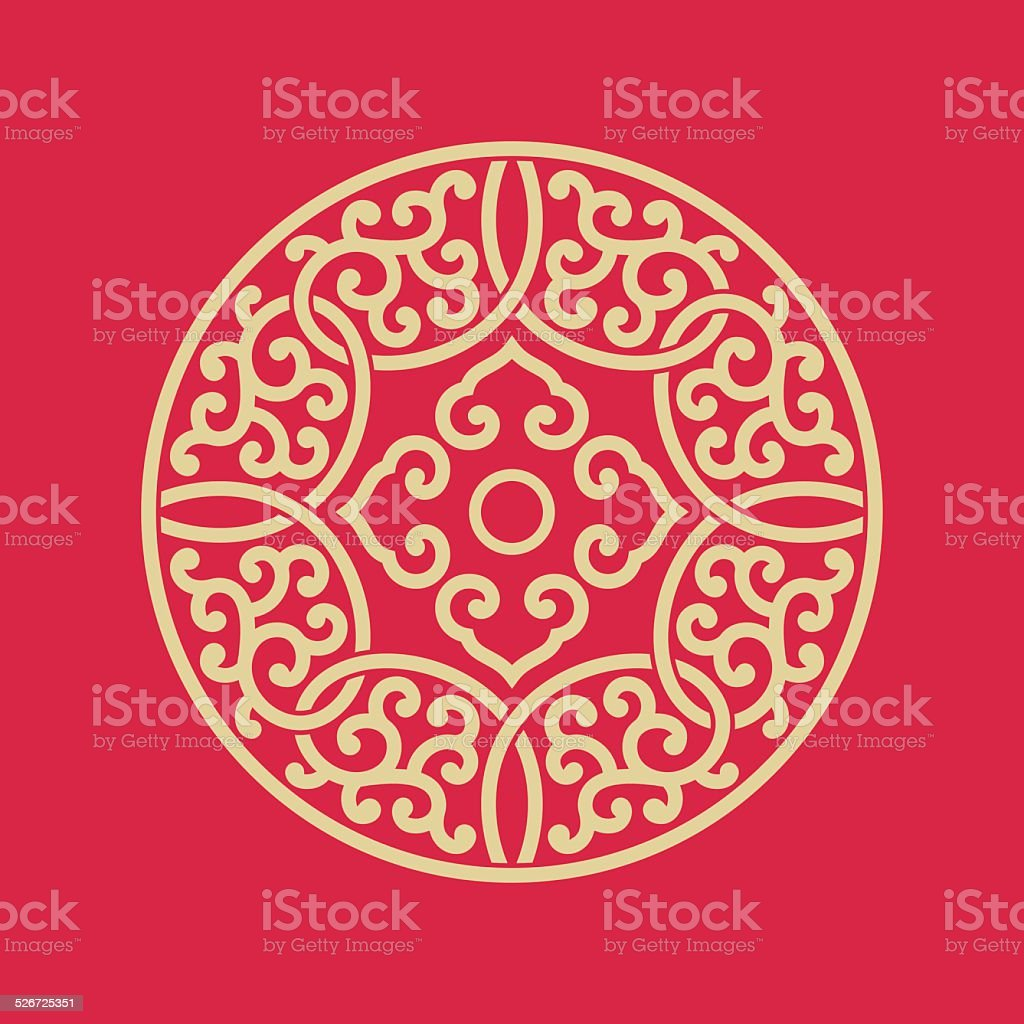 Circular pattern of Chinese style vector art illustration