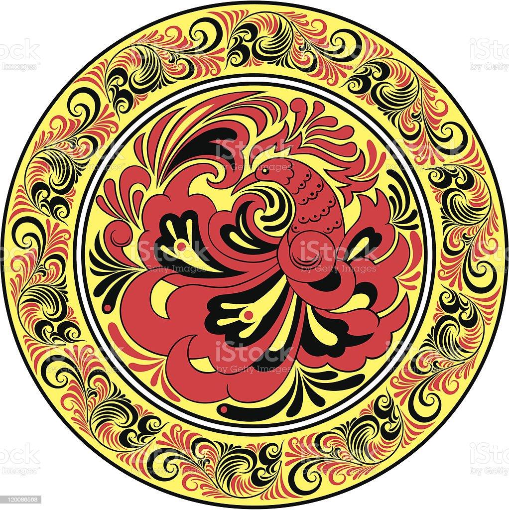 Circular pattern royalty-free stock vector art