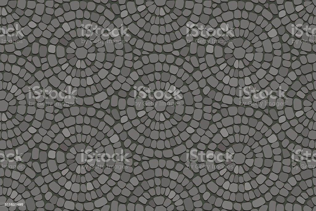 Circular pavement texture. vector art illustration
