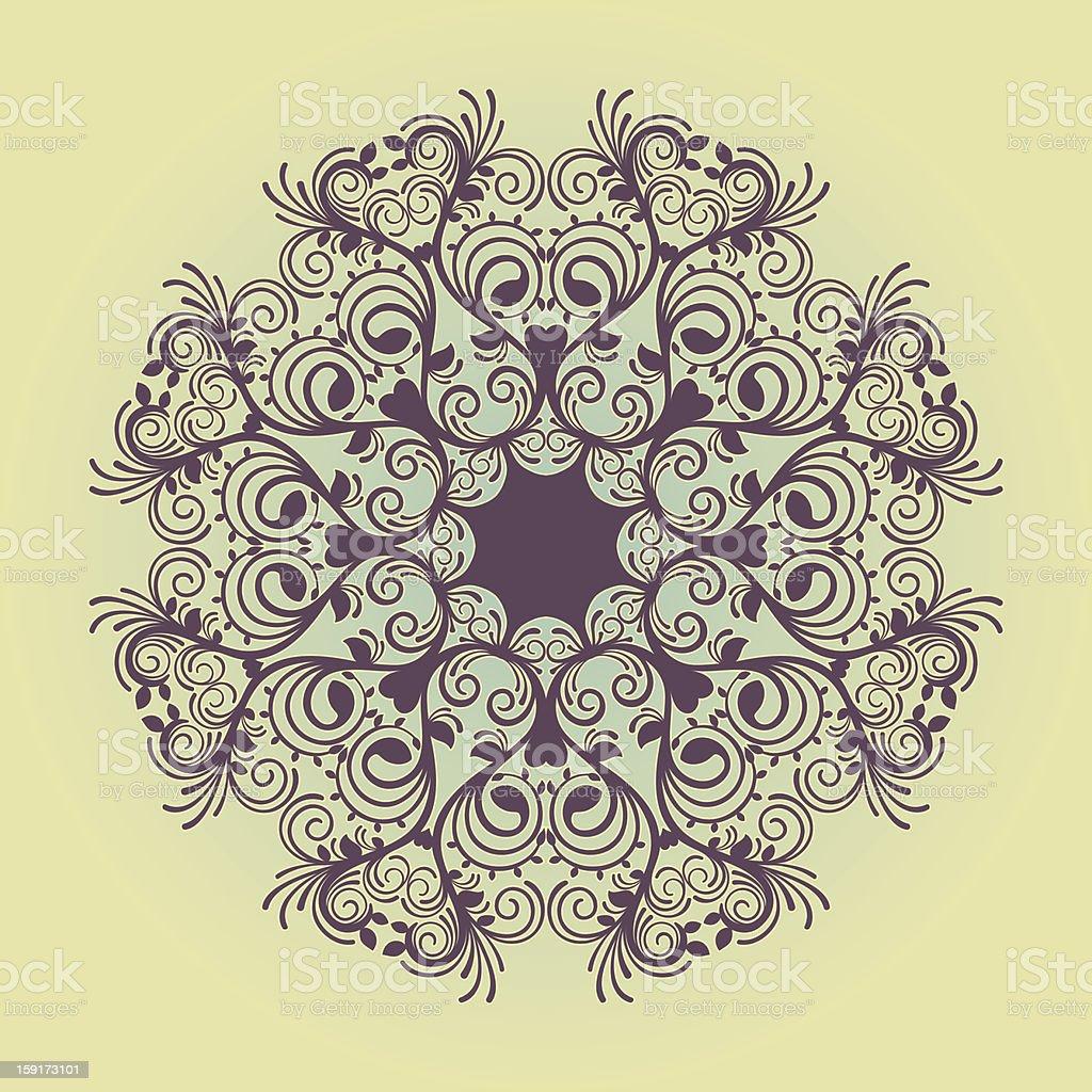 circular purple pattern royalty-free stock vector art