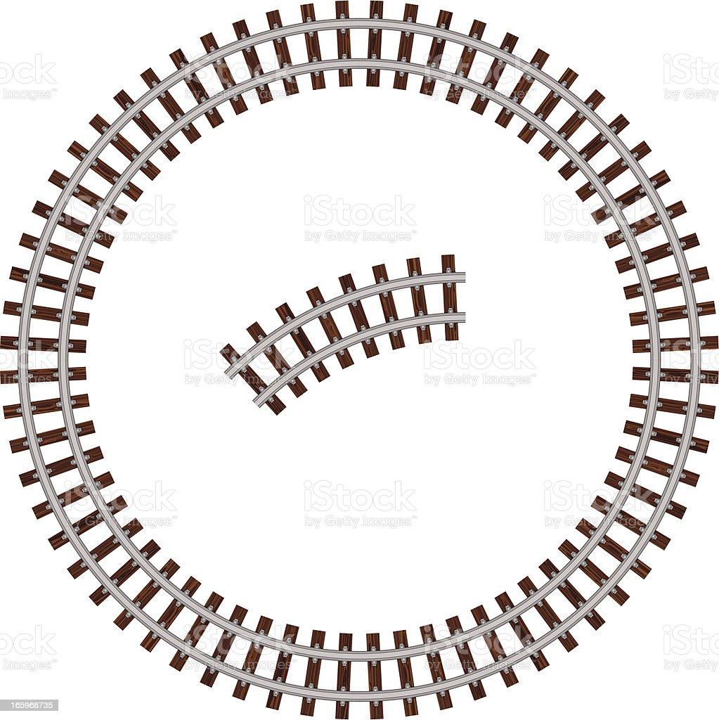 Circular rail road vector art illustration