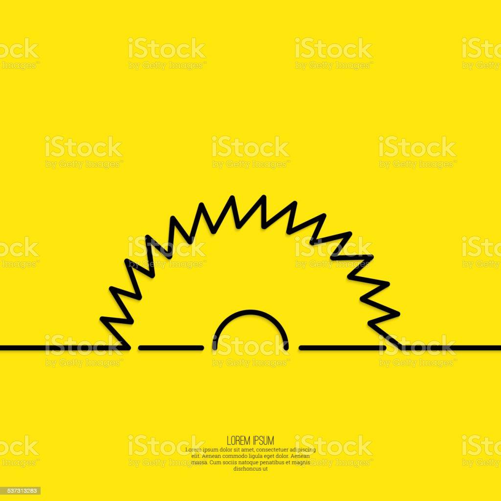 Circular saw blade for wood vector art illustration