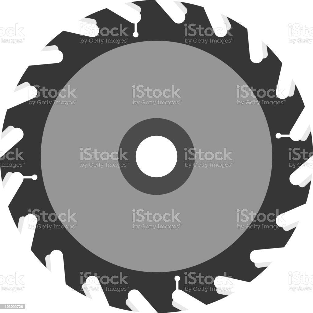 Circular saw blade vector art illustration