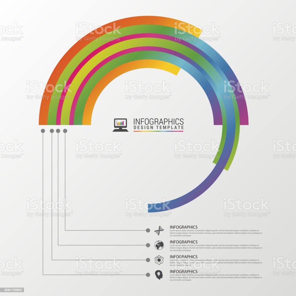 Circular stylish multicolor round. Infographic design template. vector art illustration