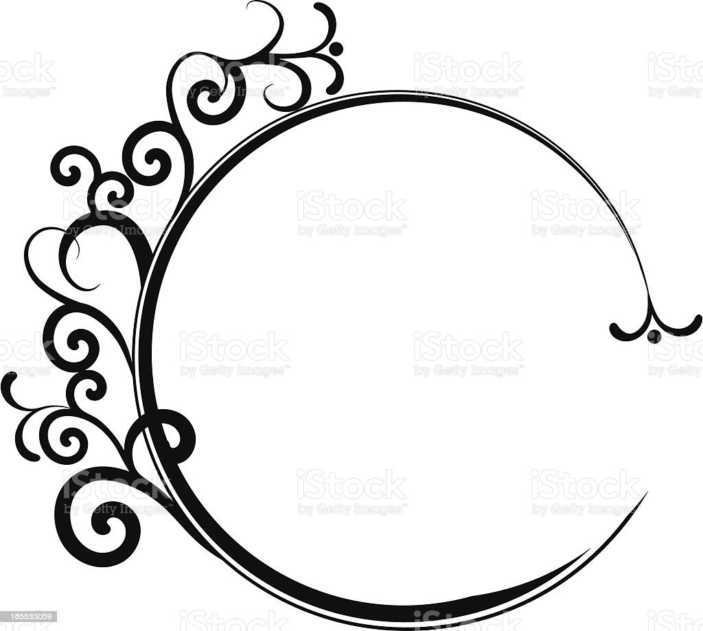 Circular swirl frame. royalty-free stock vector art