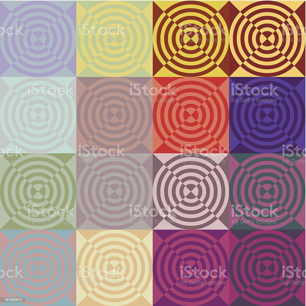 circular tiles royalty-free stock vector art