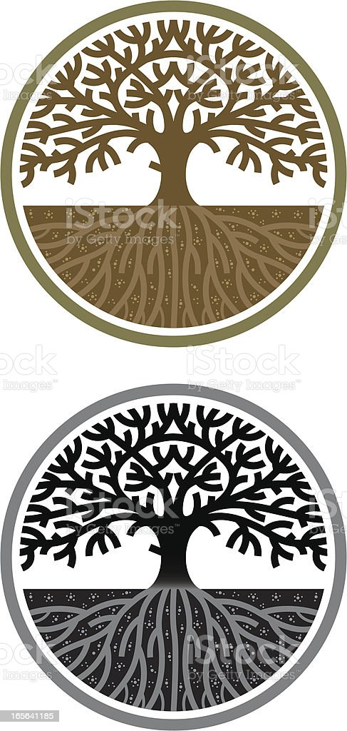Circular tree royalty-free stock vector art