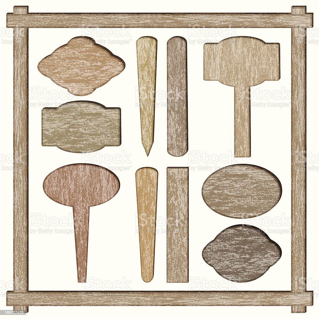 circular wooden labels royalty-free stock vector art