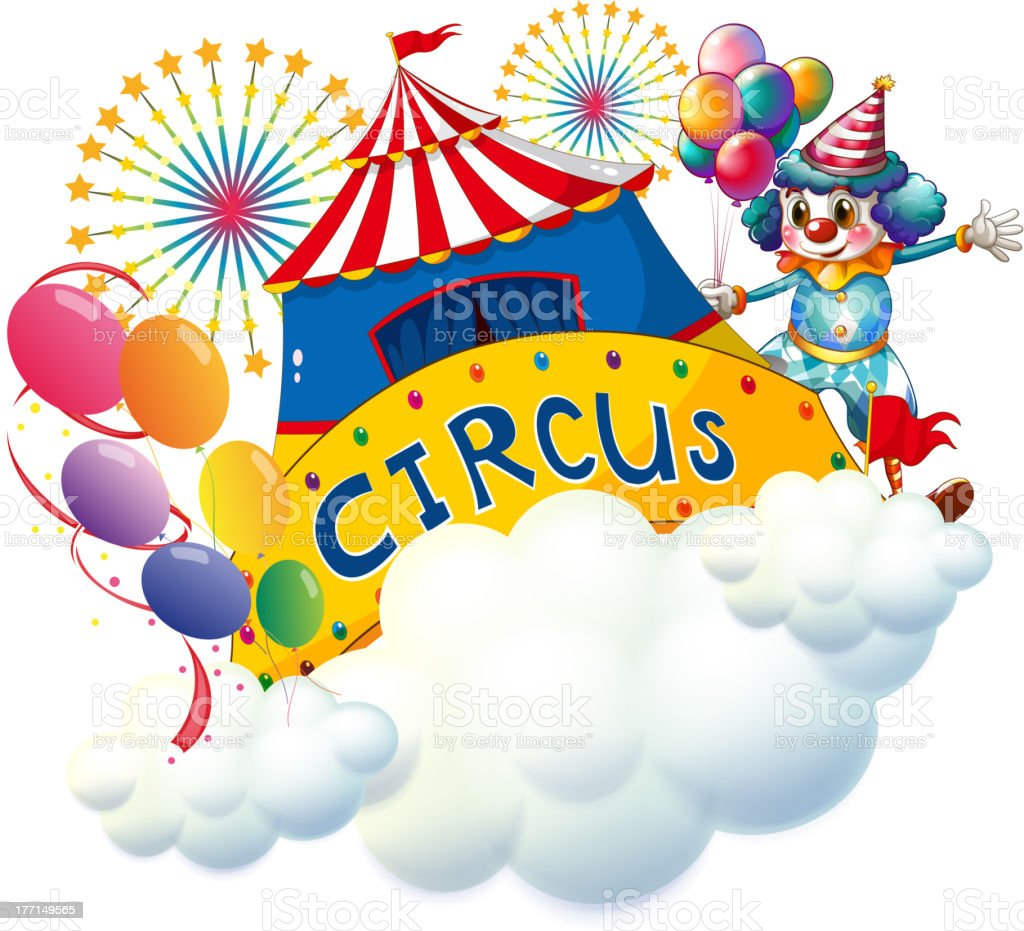 Circus above the clouds royalty-free stock vector art