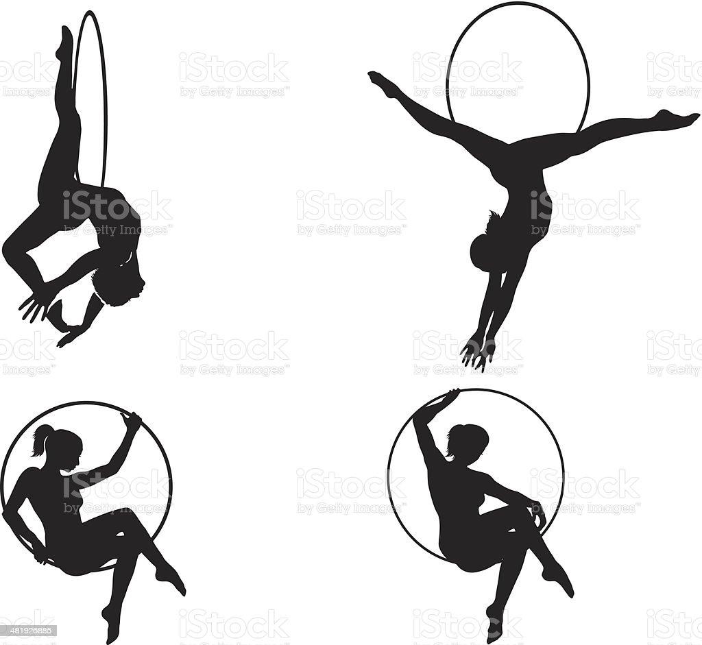 Circus acrobats vector art illustration