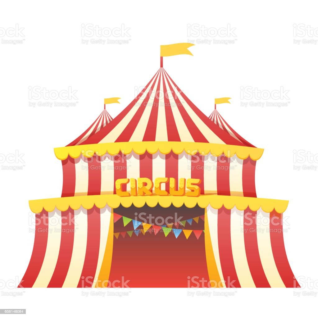 Circus and amusement park vector illustration vector art illustration