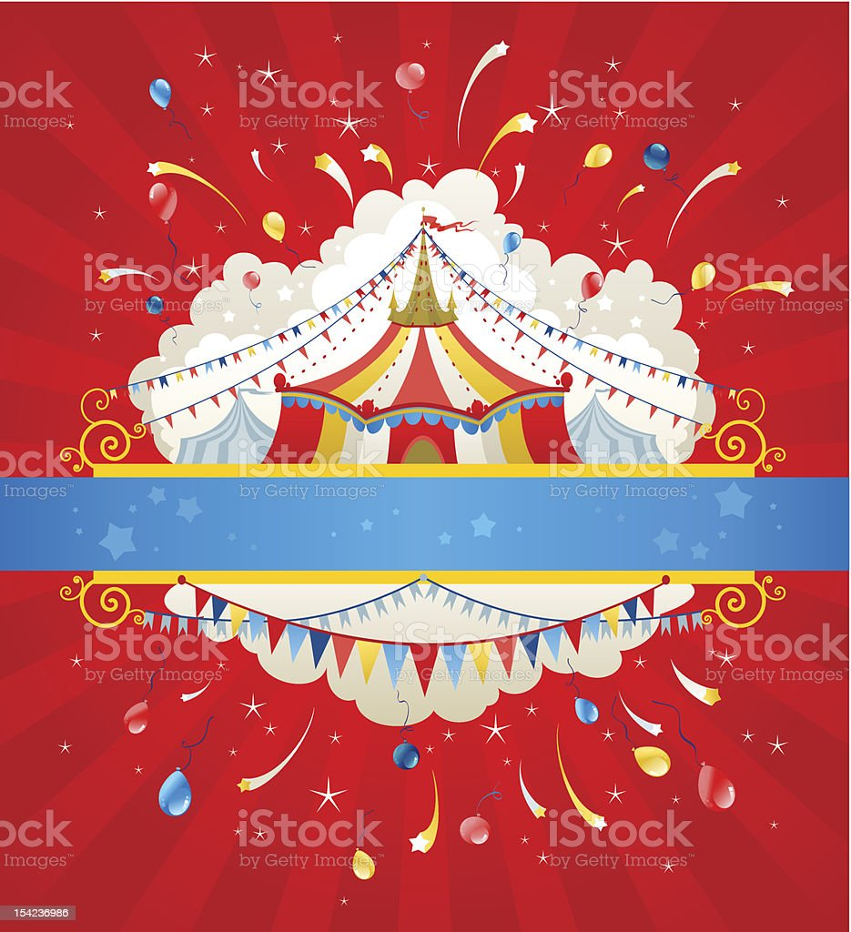 Circus background royalty-free stock vector art