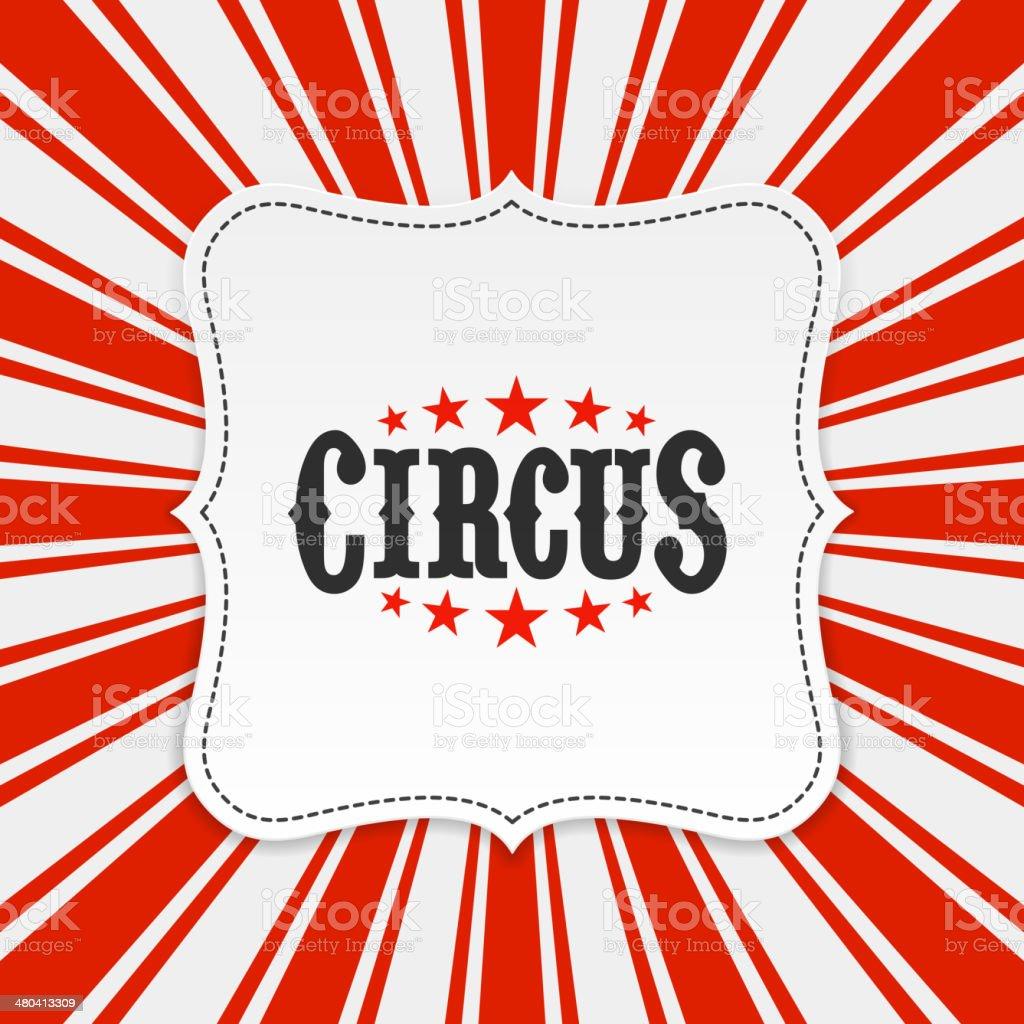 Circus background vector art illustration