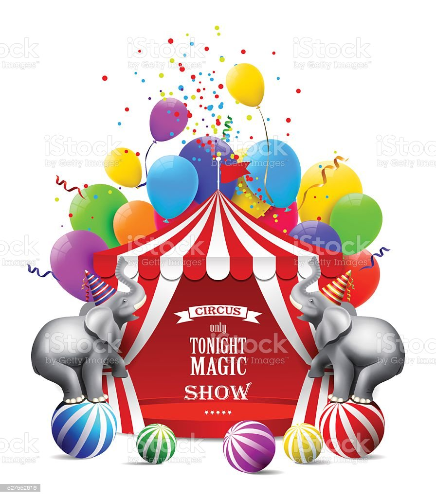 Circus background. vector art illustration