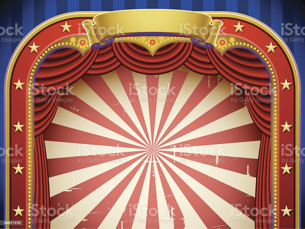 circus background vector art illustration