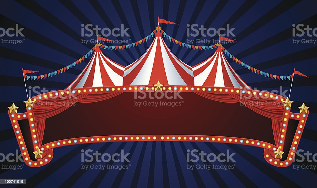 circus banner vector art illustration