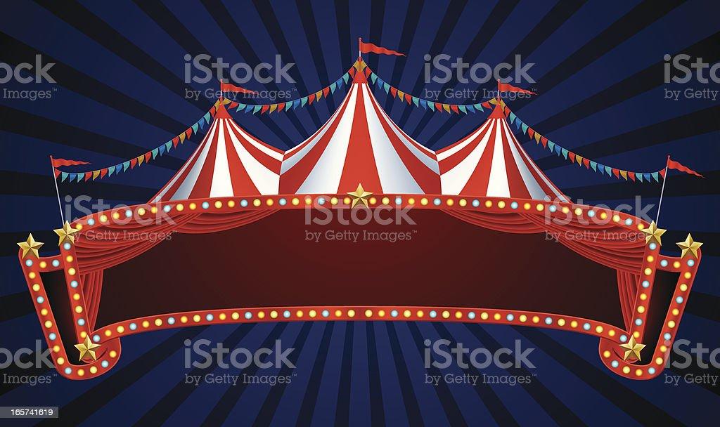 circus banner vector art illustration