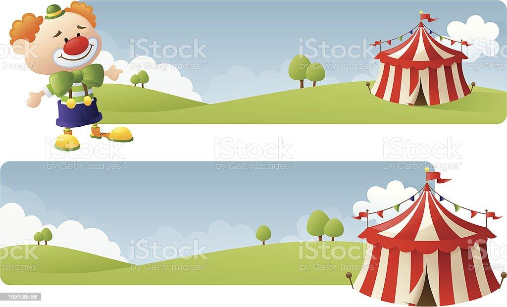 Circus Banners vector art illustration