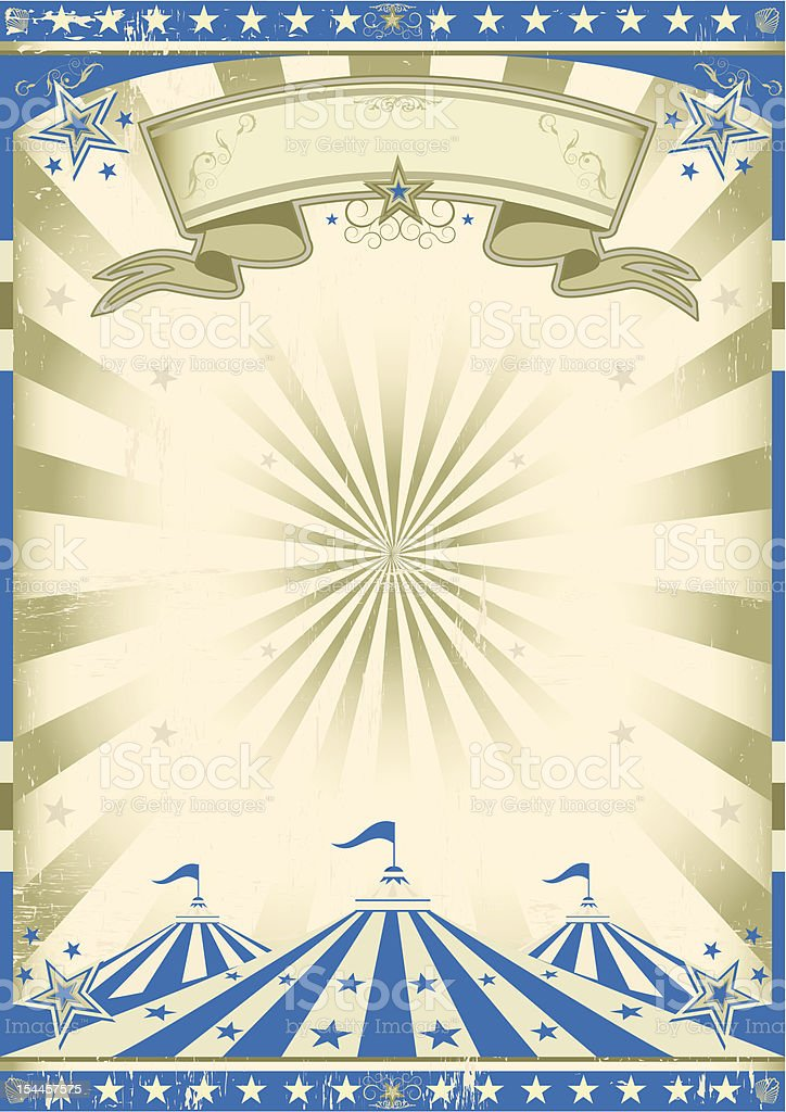 Circus blue vintage vector art illustration
