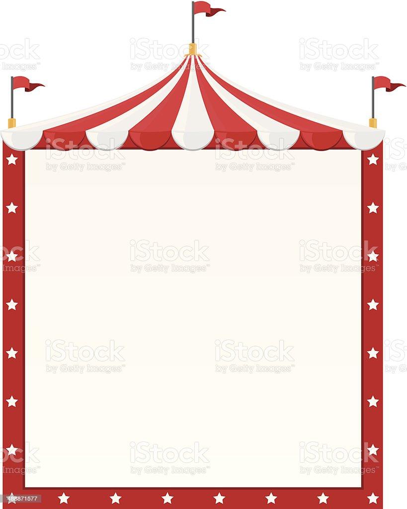 Circus Border vector art illustration