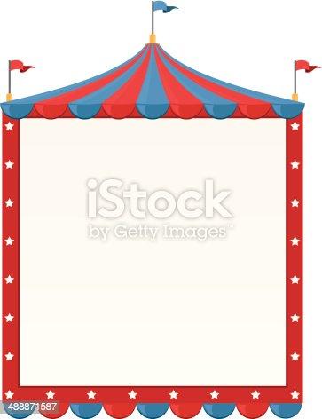 Circus Border stock vector art 488871587 | iStock