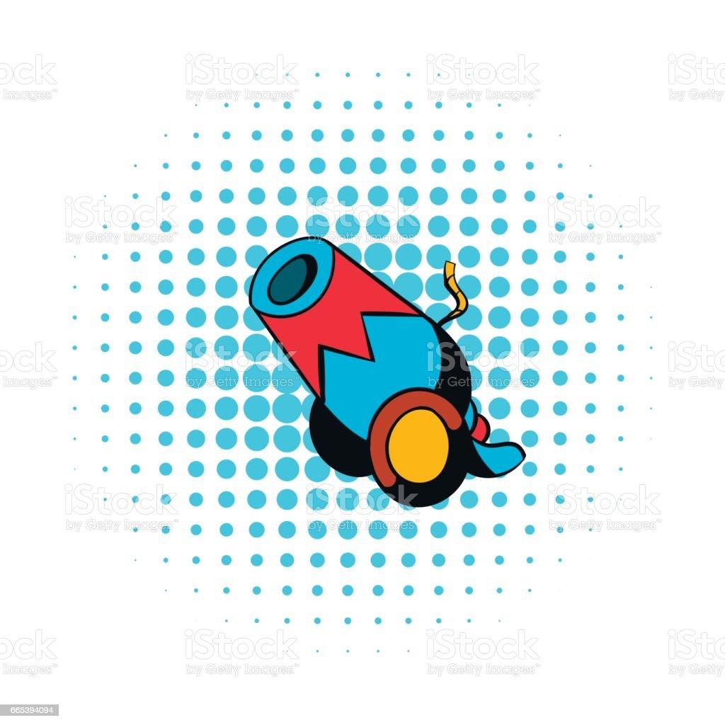 Circus Cannon icon vector art illustration