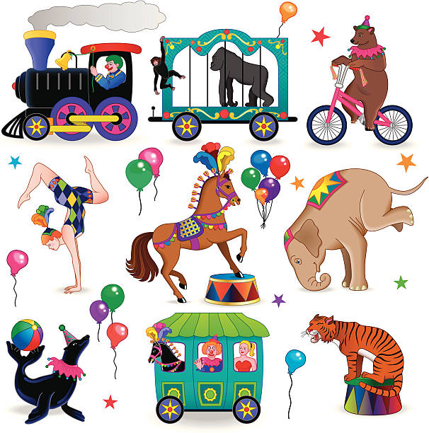 Circus Train Clip Art, Vector Images & Illustrations - iStock