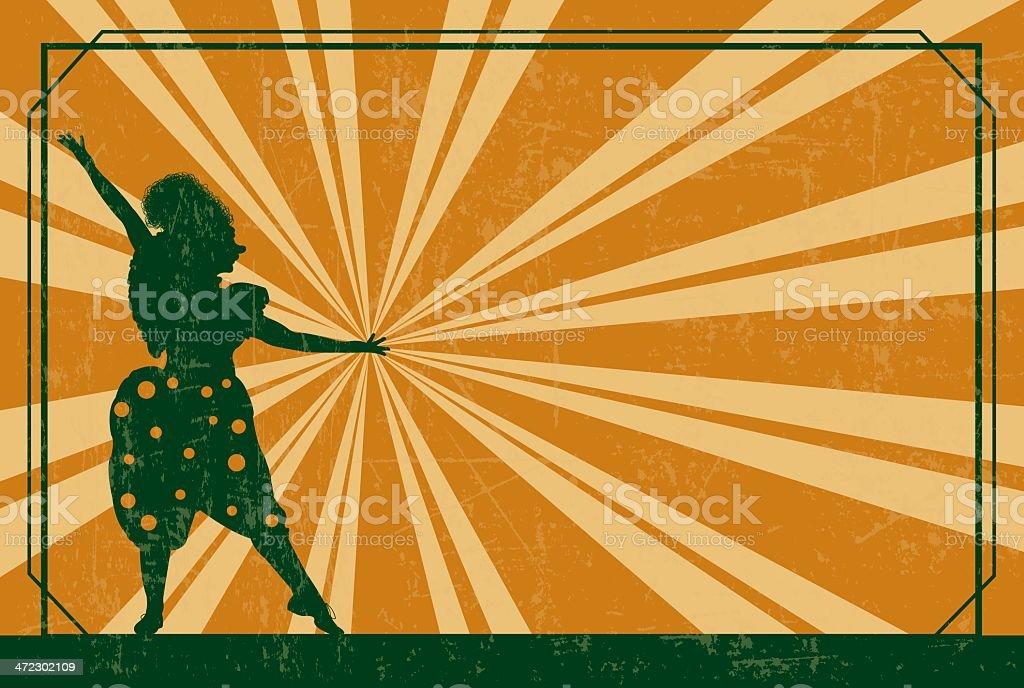 Circus Clown Background - Retro royalty-free stock vector art