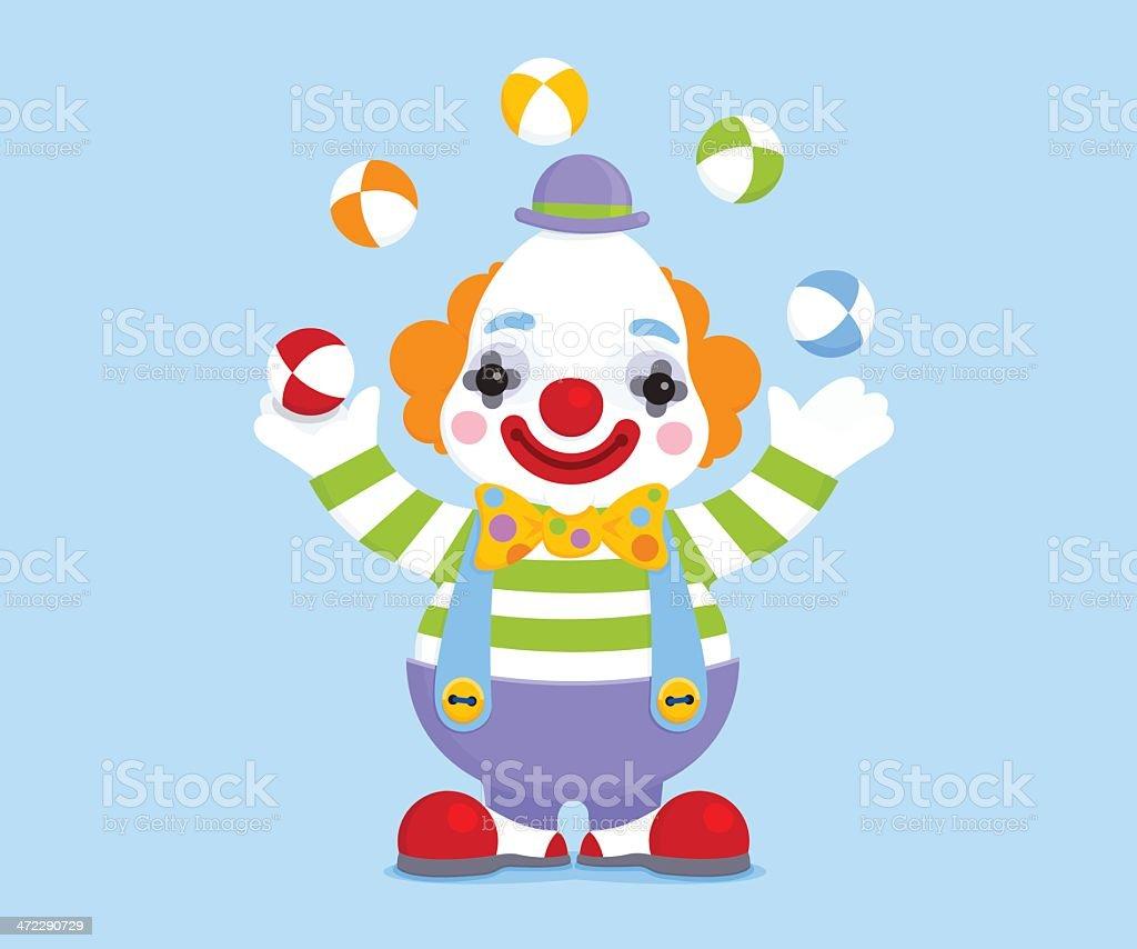 Circus clown juggling balls royalty-free stock vector art