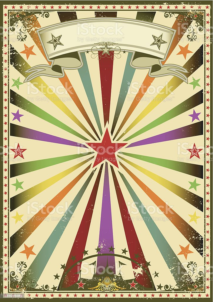 Circus color vintage poster royalty-free stock vector art