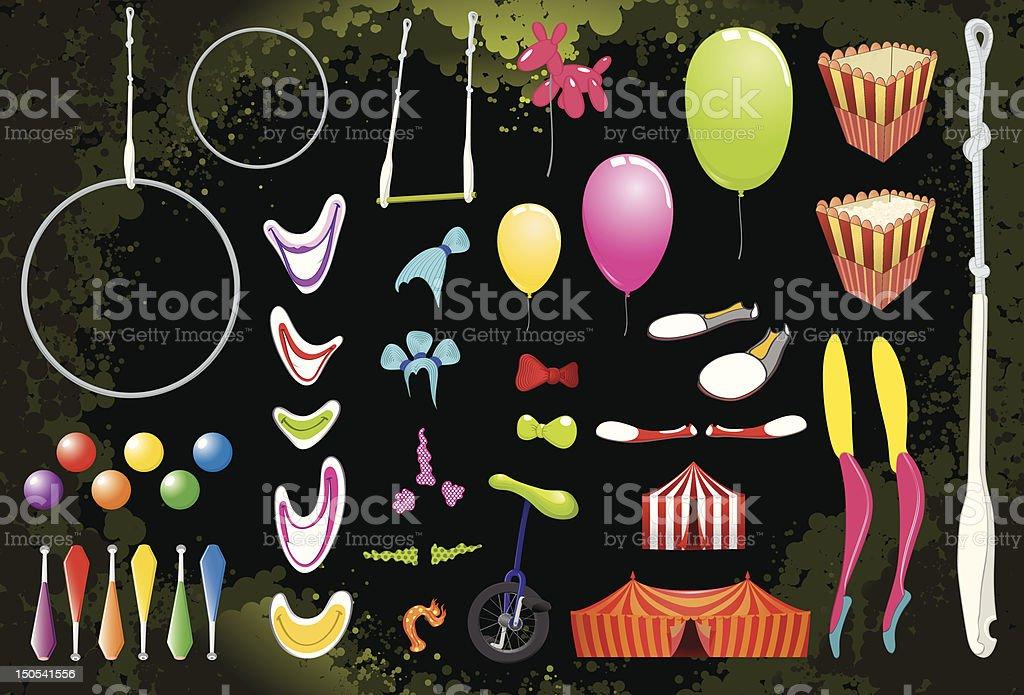 Circus Elements. royalty-free stock vector art