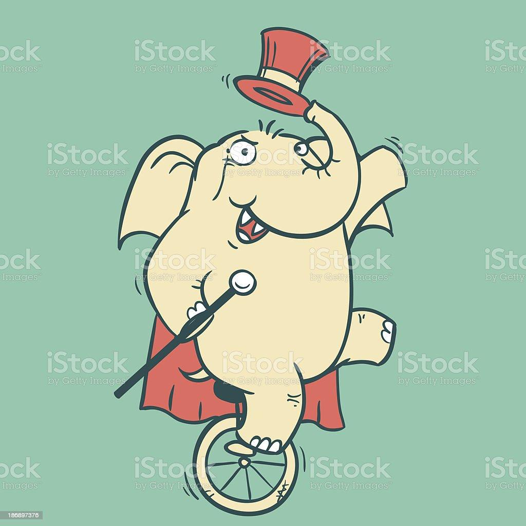 Circus Elephant - 2 royalty-free stock vector art