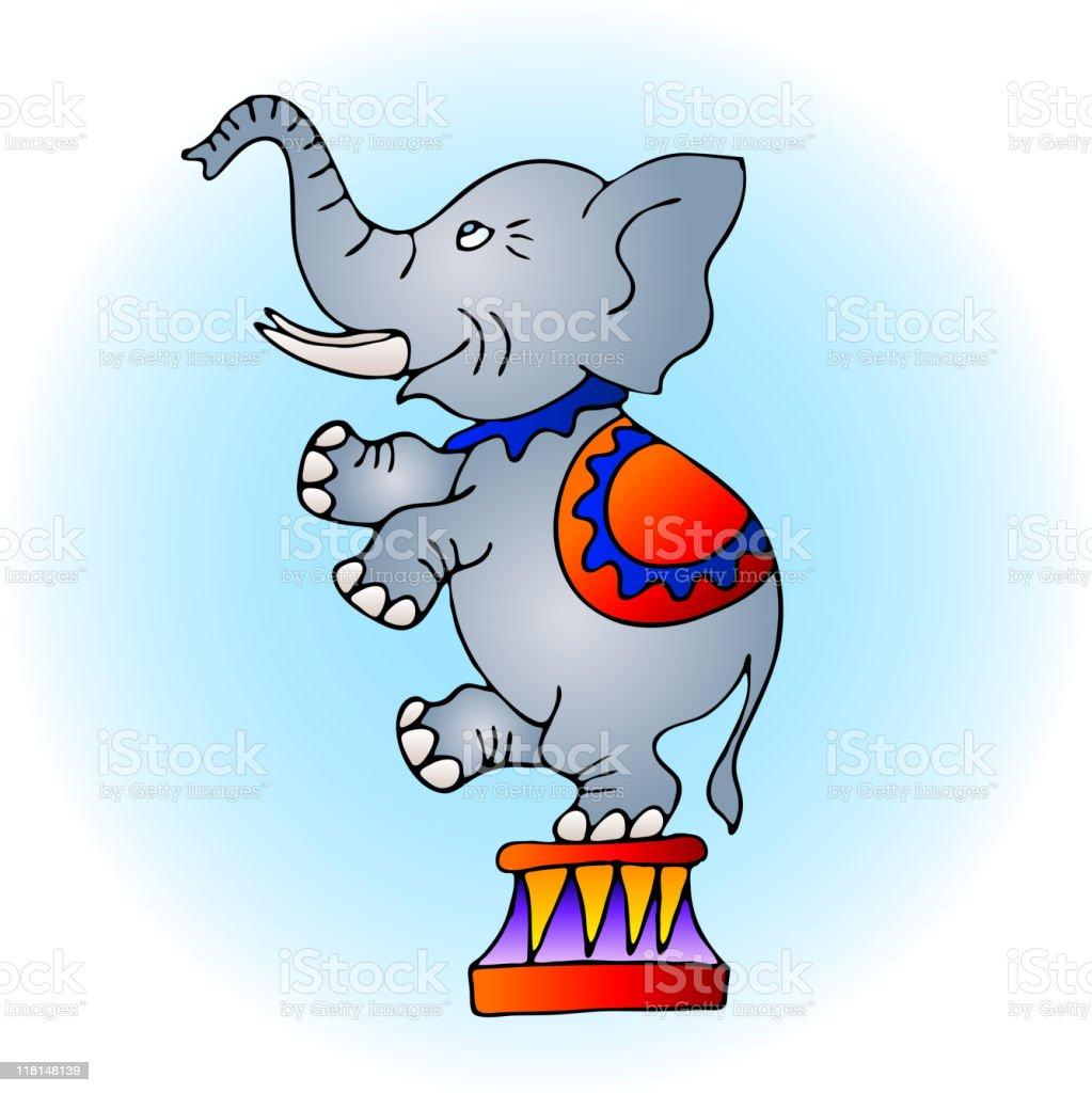 Circus elephant royalty-free stock vector art
