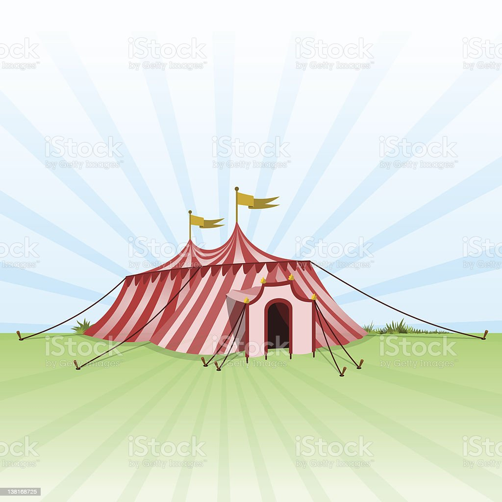 Circus Entertainment Tent vector art illustration